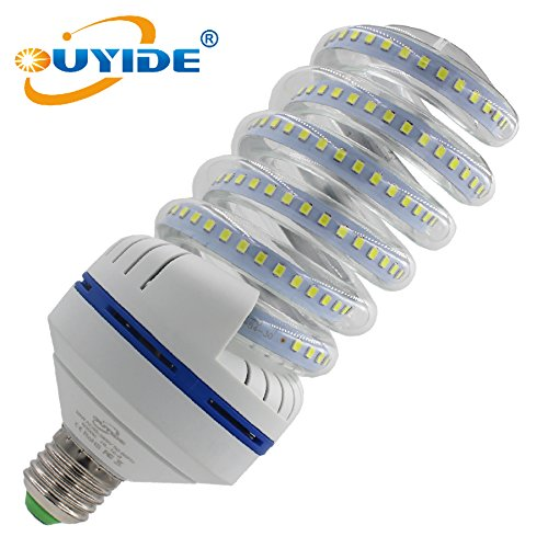 OUYIDE 250 Watt Equivalent A19 Spiral LED Bulbs 30W Daylight 6000K LED Corn Light Bulbs 3300LM E26 E27 Base