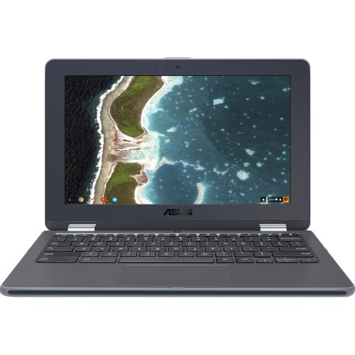 ASUS Chromebook Flip C213SA-YS02 11.6 inch Ruggedized & Spill Proof, Touchscreen, Intel Dual-Core Apollo Lake N3350 , 4GB DDR4 RAM, 32GB Flash Storage, USB Type-C, Supports Android Apps by Asus (Image #1)