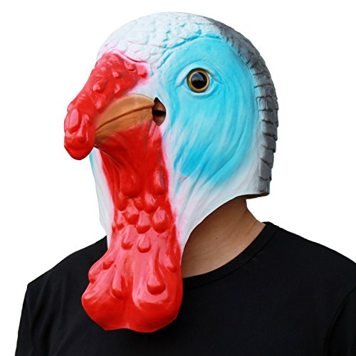 Deluxe Novelty Costume Turkey Head Mask