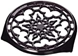 Le Creuset Enameled Cast-Iron Deluxe Round Trivet, 9-Inch, Cassis