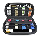 FidgetFidget Travel Digital USB Storage Cable Earphone Organizer Bag Case Flash Drive BLK