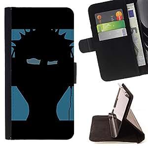 For Samsung Galaxy S6 EDGE - Music Punk /Funda de piel cubierta de la carpeta Foilo con cierre magn???¡¯????tico/ - Super Marley Shop -