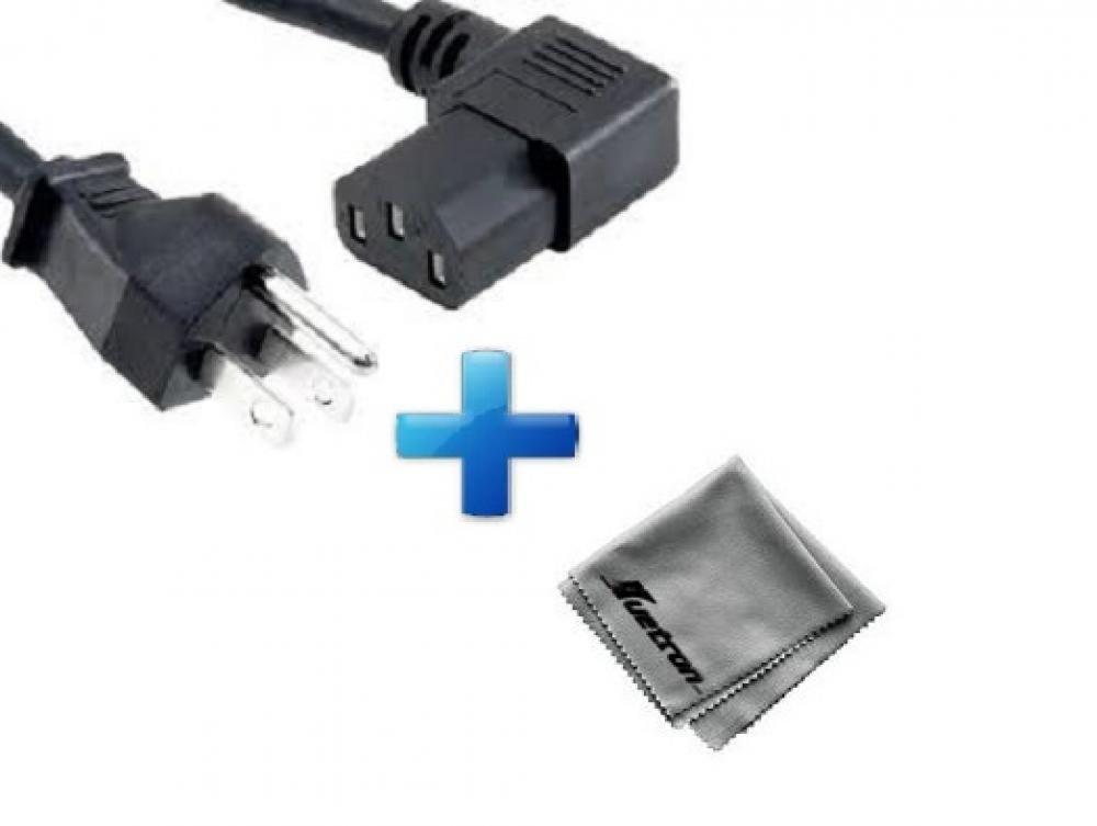 NEC MT-1065 LCDプロジェクター対応 15フィート 直角電源コードケーブル (C13/5-15P) + Huetron マイクロファイバークリーニングクロス   B00OZW49QU