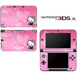 Hello Kitty de corazones rosa princesa vestido niña Video Game vinilo Cover Piel Protector de visualización para Nintendo 3DS XL