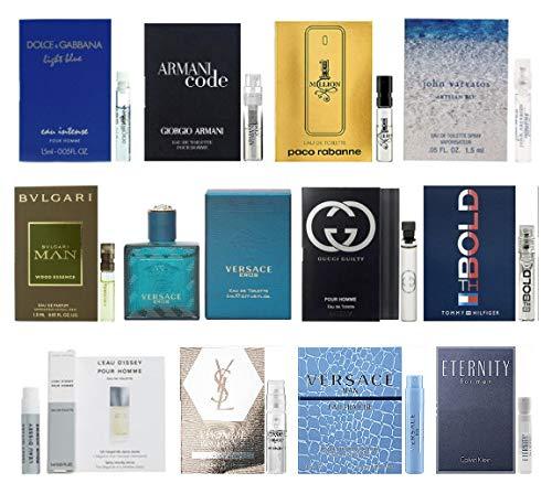 Miniature Mens Fragrance - 12 Men's Cologne Samples Vials & Miniature Set Tom Ford, Yves Saint Laurent