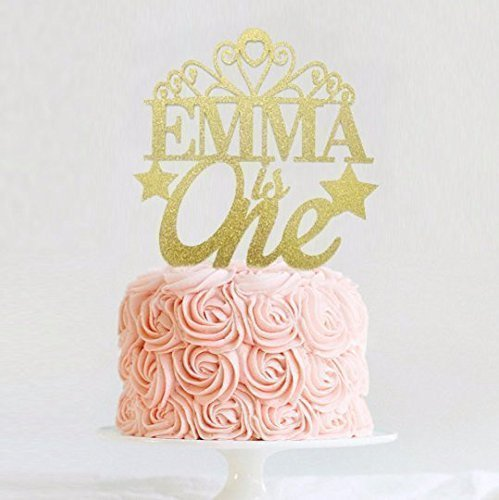 amazon com princess cake topper personalized tiara cake topper