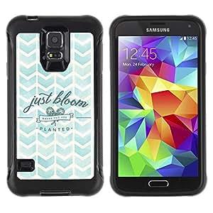 iKiki Tech / Estuche rígido - Chevron Watercolor Nature Sky Bloom - Samsung Galaxy S5 SM-G900