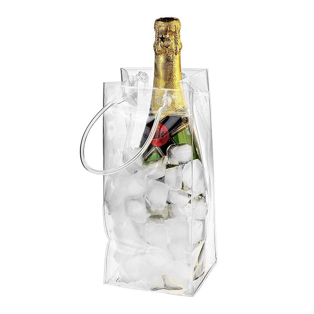 Vordas 2 St/ück Transparente Flaschenk/ühler Eistasche K/ühltasche mit Griff f/ür Champagner Wein Getr/änke