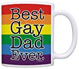 Gay Dad Gifts Best Gay Dad Ever Gay Pride LGBT Gay Parent Gift Coffee Mug Tea Cup Rainbow