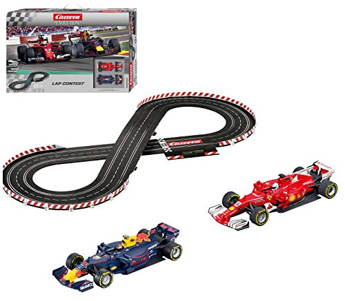 Carrera USA 20025233 Evolution Lap Contest 1:32 Scale Analog Slot Car Racing Complete Track Set, 1: 24 Scale, Black ()