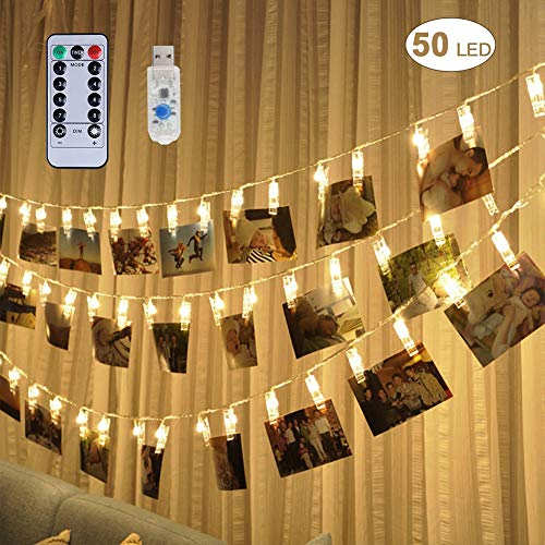LED Photo Clip Lights Christmas