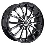 blue 24 inch rims - VCT V63 Mancini 24x9.5 Black Machined 5x115 5x127+15 offset Wheel Rim