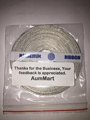 Wrisky 1Rolls 99.95% 25g 70ft Magnesium Ribbon High Purity Lab Chemicals New