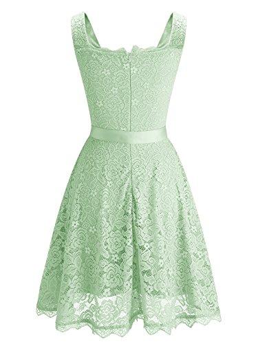 Floral Cocktail BeryLove Lace Party Women's Prom Mint Dress Short Bridesmaid Dress 547A0nB4