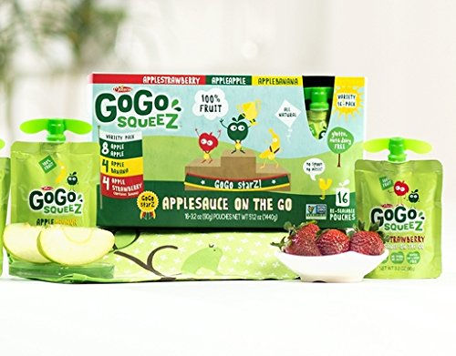 GoGo SqueeZ Applesauce On The Go - 16ct Variety (AppleStrawberry, AppleApple, AppleBanana)
