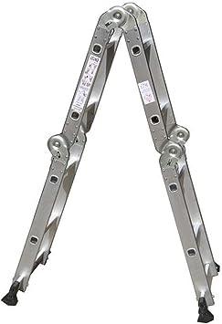 Escaleras de tijera Escalera Plegable Multipropósito Extensión de aluminio Combinación de servicio pesado (2.5 metros) Escalera plegable: Amazon.es: Bricolaje y herramientas