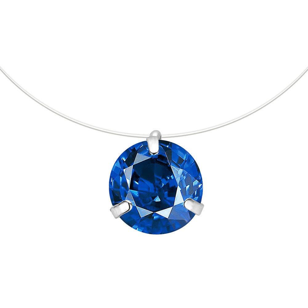 WENSY Women Clavicular chain Invisible Rhinestones Transparent zircon Fishing Line Chain Pendant Necklaces