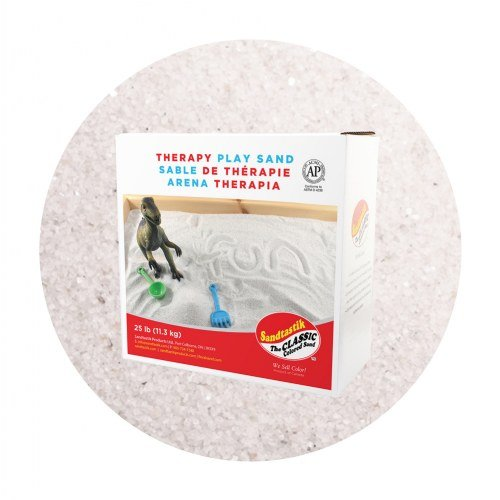 Sandtastik 25 Pound Non-Toxic Less Dust Indoor Coarse Therapy Play Sand -