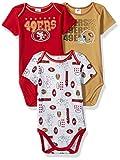 Gerber Childrenswear NFL San Francisco 49ers Boys Short Sleeve Bodysuit (3 Pack), 3-6 Months, Red