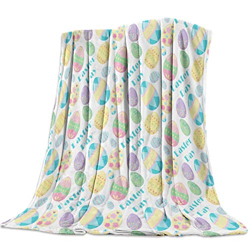 "Singingin Popular Easter Egg Flannel Throw Blanket Super Soft Warm Snuggle Stadium Blanket for Couch Chair Sofa and Bed Everyday Use 50"" x 60"""