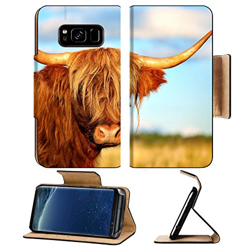 Liili Premium Samsung Galaxy S8 Plus Flip Pu Wallet Case IMAGE ID: 17167566 Close up of scottish highland cow in field