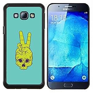 TECHCASE---Cubierta de la caja de protección para la piel dura ** Samsung Galaxy A8 ( A8000 ) ** --Cráneo de la Paz