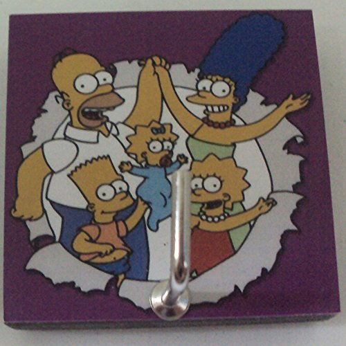 Agility Bathroom Wall Hanger Hat Bag Key Adhesive Wood Hook Vintage The Simpsons Family's (Lightning Energy Drink)