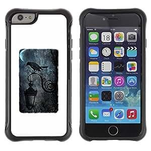 "Hypernova Defender Series TPU protection Cas Case Coque pour Apple Iphone 6 PLUS 5.5 [Negro Luna Lluvia oscuro Farola""]"