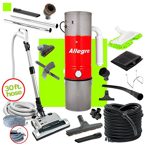 Allegro MU4500 Champion – 6,000 Square Foot Home Central Vacuum System 30 Foot Electric Hose