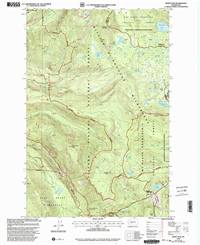 White Pass WA topo map, 1:24000 scale, 7.5 X 7.5 Minute, Historical, 1998, updated 2003, 27 x 22.1 IN - Paper