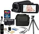 Canon VIXIA HF R700 57x Zoom Full HD 1080p Video IS Digital Camcorder (Black) + 32GB Card + Case + Tripod + Digital Camera Cleaning Kit