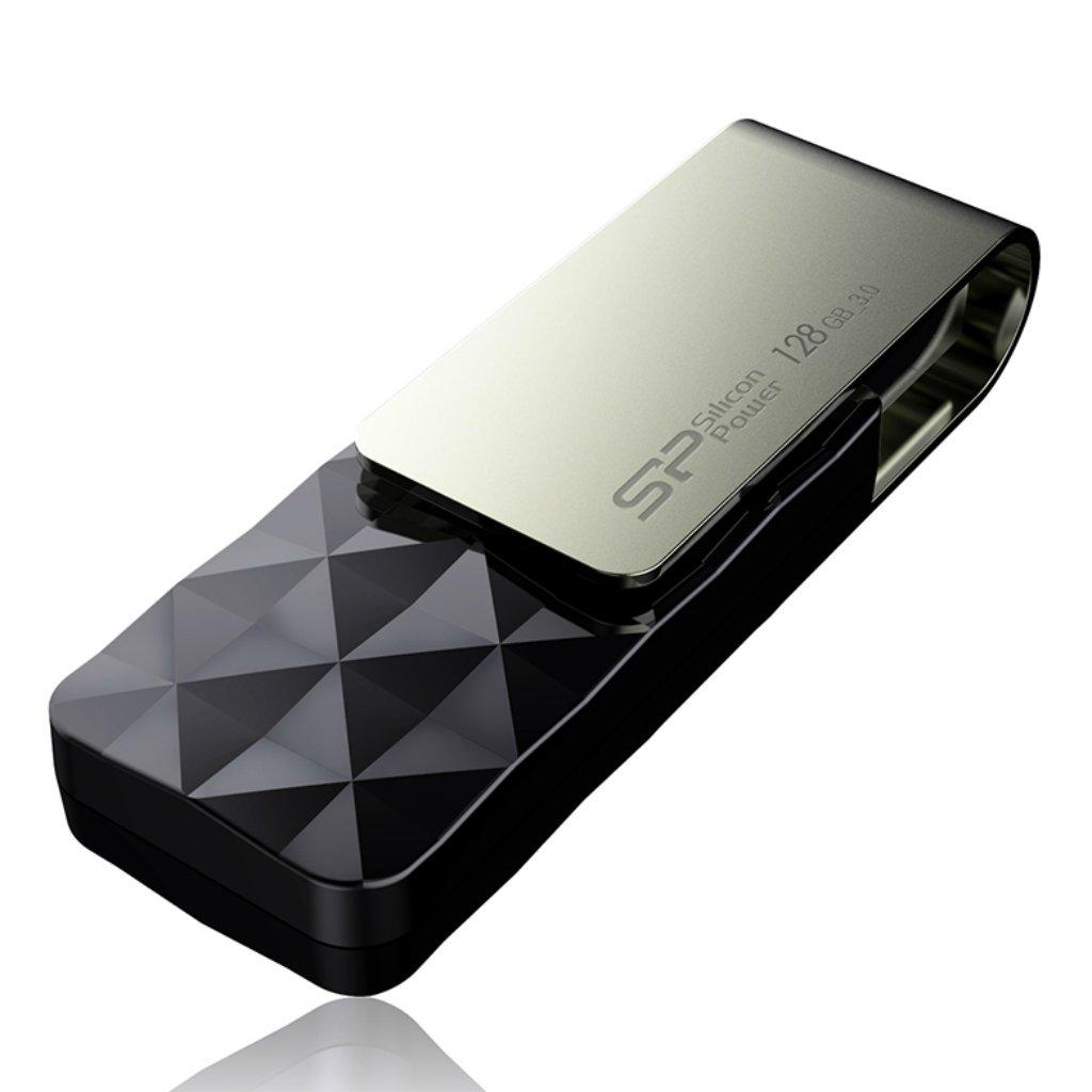 Silicon Power 128GB Blaze B30 USB 3.0 Swivel Flash Drive, Black (SP128GBUF3B30V1K) by Silicon Power (Image #5)