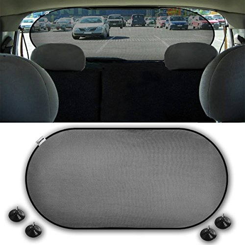(Zento Deals Car Rear Window Sunshade Screen Mesh Cover 1pc)