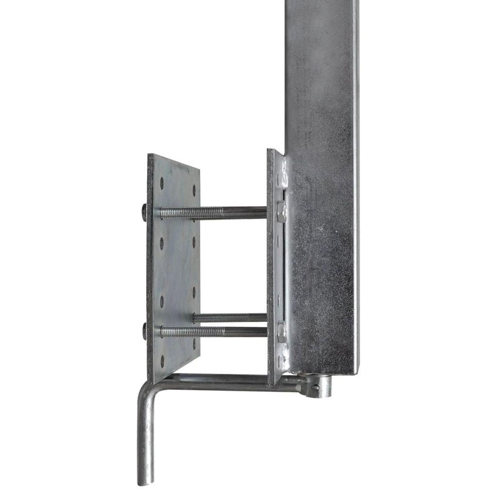 vidaXL Set de 2 Supports /à Double Roue inclinable pour remorque Bateau