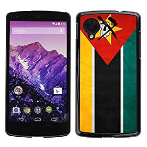 Shell-Star ( National Flag Series-Mozambique ) Snap On Hard Protective Case For LG Google NEXUS 5 / E980
