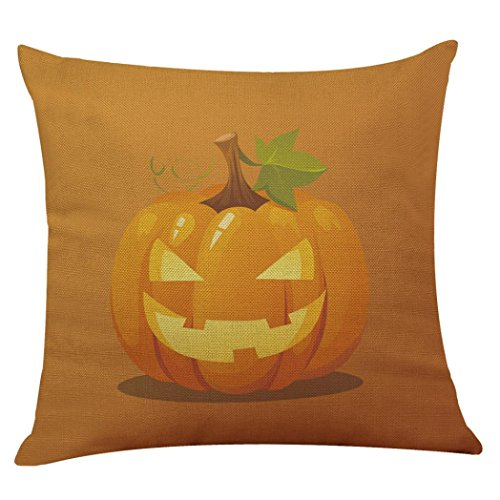 Halloween Pillow Cases,SUPPION Halloween Pillow Box Linen Sofa Funny Ghost Pad Cushions Home Decoration(9 kinds of patterns) (G)