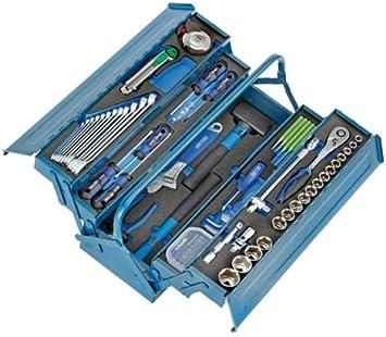 Heyco/Heytec 50807694500 - Caja de herramientas (chapa de acero, 5 compartimentos, plegable, 96 piezas, 5 módulos): Amazon.es: Bricolaje y herramientas