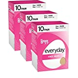 L'eggs Everyday Knee Highs 10 Pair - OneSize, Jet Black