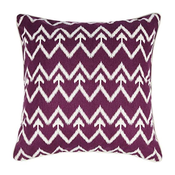 "REDEARTH Printed Throw Pillow Cushion Covers-Woven Decorative Farmhouse Cases Set for Couch, Sofa, Bed, Farmhouse, Chair, Dining, Patio, Outdoor, car; 100% Cotton (18x18; Raspberry) Pack of 4 - 100% Canvas Cotton; 18 x 18 Inch / 45 x 45cm (1-1.5 cm deviation) set of 4 cushion cases. They fit perfectly on 18""x18"" pillow inserts/fillers. PILLOW INSERTS ARE NOT INCLUDED. The cushion covers are printed on both sides for an elegant look. The throw pillows are decorated with welting (cord piping) for a crisp look and perfect finishing. Use these to enliven your bedroom, living room or outdoors. High quality invizible zipper used for seamless look and durability; the product is tested for shrinkage, color fastness and seam slippage - patio, outdoor-throw-pillows, outdoor-decor - 51%2BHSI9bHYL. SS570  -"
