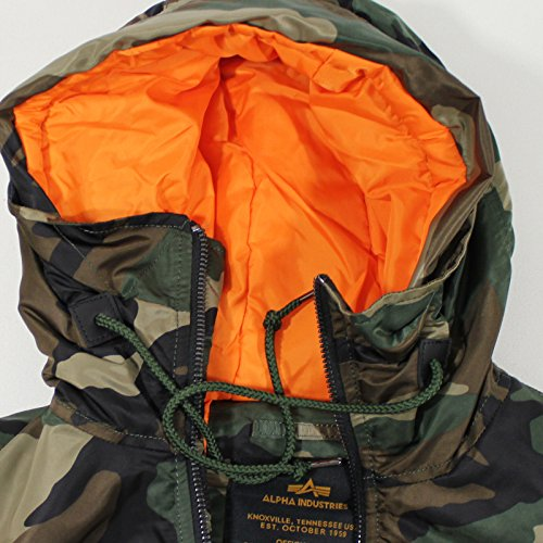 ALPHA INDUSTRIES Weste Hooded MA-1 Vest camo woodland