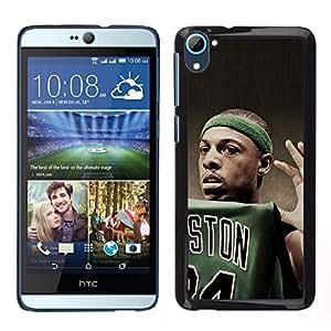 Boston Baloncesto - Metal de aluminio y de plástico duro Caja del teléfono - Negro - HTC Desire D826