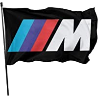 JDQP Bandera B-M-W Car M Sports Series Flag Vivid Color and UV Fade Resistant with Brass Grommets 3 X 5 Feet 3x5'' Flag