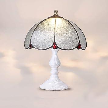DASENLIN Lampara Tiffany sobremesa, Lámpara de cabecera de ...