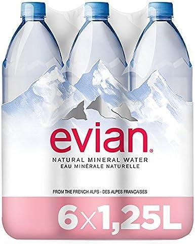 Evian, Agua Mineral Natural - Pack de 6 x 1,25L: Amazon.es ...