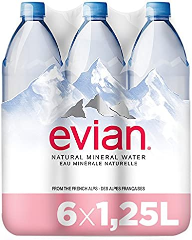 Evian, Agua Mineral Natural - Pack de 6 x 1,25L: Amazon.es: Alimentación y bebidas