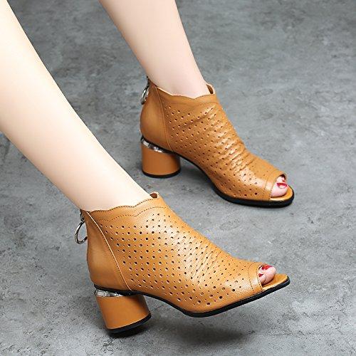 23 Épais EU37 SHOESHAOGE Étanche Femme 5 Sandales Fish Chaussures Chaussures Exposés À Taïwan Avec Cool Hauts UK4 Mouth Romain Chaussures Femmes Talons qwEw1UC