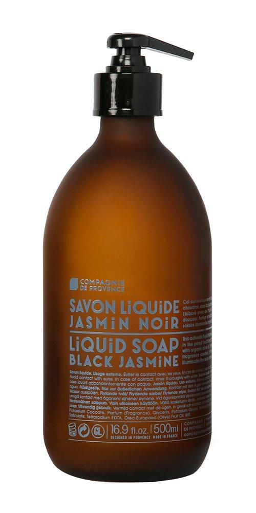 Compagnie de Provence Liquid Marseille Soap Black Jasmine 16.9 fl oz Glass Bottle