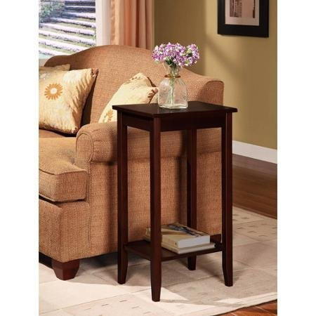 Set of 2 Rosewood Tall End Tables, Coffee Brown