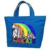 Marc Jacobs New York Print Cotton Zip Shopper Tote Bag