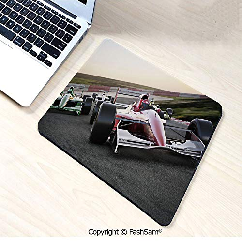 Non-Slip Rubber Mouse Pads Red Race Car Close Up Front View on a Track Leading The Pack Speedway Image Decorative for Computers Laptop Office(W7.8xL9.45)]()